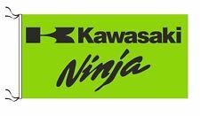 KAWASAKI NINJA FLAG GREEN - SIZE 150x75cm (5x2.5 ft) - BRAND NEW