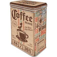 Kaffee Coffee Sack Aromadose Bügelverschluss Vorratsdose Box Metall