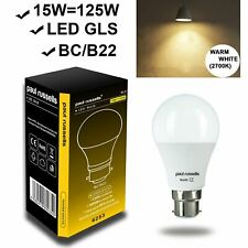 GLS LED Light Bulb with Power Saver Energy 5W/6W/7W/10W/12W/15W Lamp - BC/ES A+