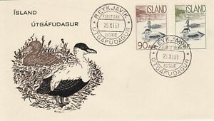 ICELAND : WILD BIRDS - EIDERS, FIRST DAY COVER (1959)