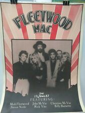 Fleetwood Mac Poster 1987 tour poster from the time