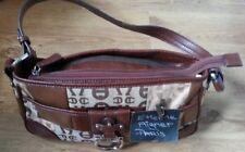 Etienne Aigner designer brown leather handbag