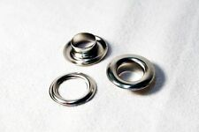 Aluminum Silver Eyelets and Grommets for Banners 10 Mm Pack of 10