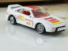 Hot Wheels Toyota Mr-2 Rally White with Red & Yellow 1/64 Scale Diecast