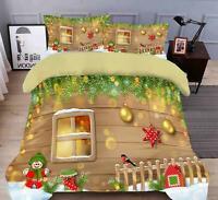 3D Window Bird B159 Christmas Quilt Duvet Cover Xmas Bed Pillowcases Zoe