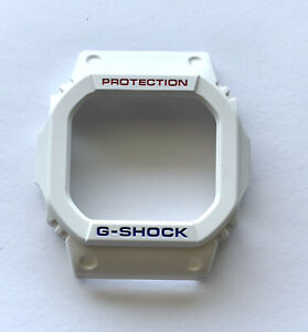 Genuine Casio Replacement Bezel for G SHOCK GWM5610TR-7 White with Red / Blue