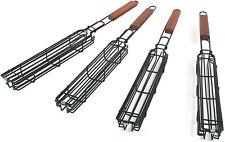 Kabob Grilling Baskets Nonstick Steel Stick Coating Set of 4
