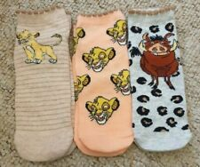 Disney The Lion King 3 Pairs Womens Primark Trainer Socks Shoe Liners Simba
