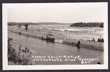 C 1930 Real Photo RPPC Longue Sault Rapids ST LAWRENCE RIVER CORNWALL Ontario
