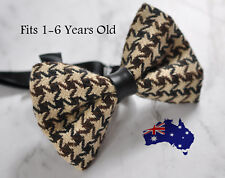 Boy Kids Baby Houndstooth Pattern Bow Tie Bowtie Craft 1-6 Years Old Wedding
