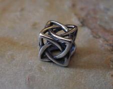 Edelstahl Bead Element Würfel Knoten Fb Antiksilber Silber für Armband 1440