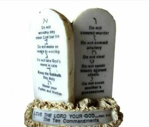 10 Commandments Display (5 inches)  - Messianic Jewish interest!  Yeshua!
