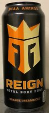 NEW REIGN TOTAL BODY FUEL ORANGE DREAMSICLE ENERGY DRINK 16 FL OZ FULL CAN BCAA
