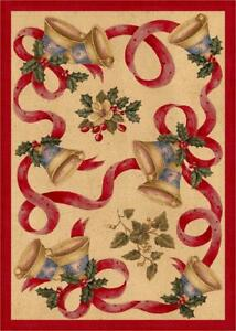 Milliken Holiday Rugs Bells and Bows Area Rug
