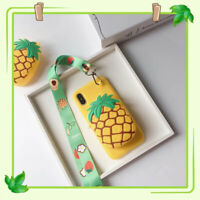 For iPhone X XS XR MAX 7 8 Cute Fruit Wallet Coin Purse Bag Crossbody Soft Case