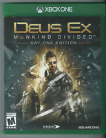 Deus Ex: Mankind Divided -- Day One Edition (Microsoft Xbox One, 2016) 🎮🎮🎮