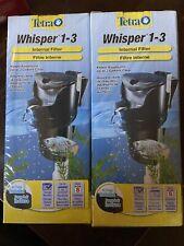 (2) Tetra Whisper 1-3 Internal Filter Aquarium Filter With Air Pump