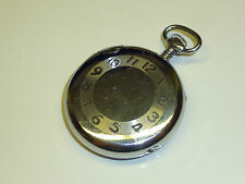 VINTAGE pocket watch Petrol LIGHTER HIGH POLISH CHROME accendino in forma orologi