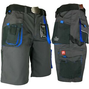Arbeitshose Kurze Hose Bermuda Shorts Kurz Grau Blau Stretch Gr. 46 - 60 NEU