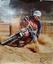 """Honda poster 2 sided 70s? Advertisement poster for Honda bikes/motocros 28""""x23"""""""