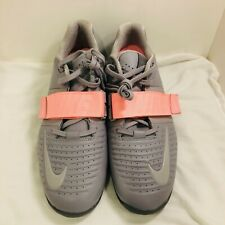 New Nike Romaleos 3 XD Atmosphere Gray Pink Weightlifting Shoes AO7987-002 12.5