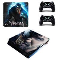 PS4 Slim Console Controller Skin Vinyl Decal Stickers Cover Marvel Venom Film