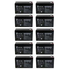 Upg 12V 9Ah Sla Battery for Apc Back-Ups 600 Bn600 - 10 Pack