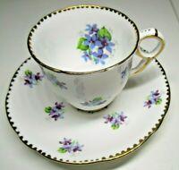 Royal Stafford TEACUP & SAUCER Sweet Violets Bone China England
