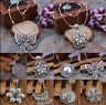 Vintage Women's Tibetan Silver Turquoise Beads String Pendant Necklace Jewelry