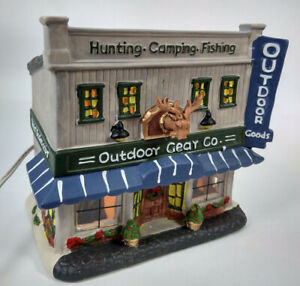 Porcelain Lighted Holiday Time Outdoor Gear Co, Country Charm Collection 2017