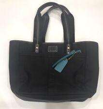 Coach Hampton Nylon Tote Handbag Purse Bag Black Teal A0768 F10695 EUC