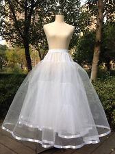 Neu Lager Weiß TÜLLROCK Petticoat 3-lagig ohne Ring Unterrock Reifrock Bandkante