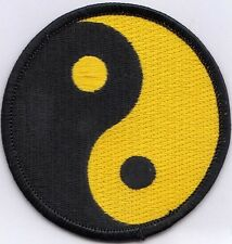 "10 Inn Yang Logo (Black/Yellow) Embroidered Patches 3"" Diameter"