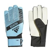 Juniors Predator Training Soccer Goalkeeper Gloves 6 Bright Cyan/Black