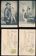 TURKEY MONASTIR 1904 ACTOR PPCs GEORGES BERR + ALBERT LAMBERT IMPRIMES HANDSTAMP