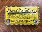 Antique Vintage PINEX LAXATIVES Tin Advertising Fort Wayne Indiana Medical Empty