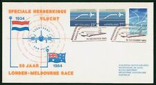 Mayfairstamps Netherlands 1983 London Melbourne Race Airplane Combo Cover wwr_11