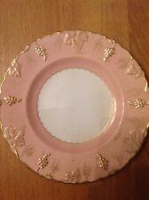 ROYAL CROWN DERBY 'Salmon Vine' Cabinet Plate, Excellent Condition c1941
