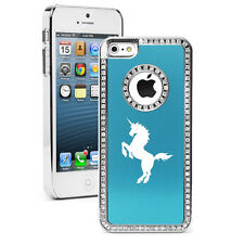For iPhone 4s 5 5s 5c 6 6s Plus Rhinestone Crystal Bling Case Cover Unicorn