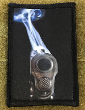 1911 Colt 45 Smoking Barrel Morale Patch Military Tactical Army Flag USA Hook