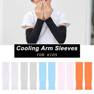1pair Travel For Kids Sun Protection Nylon Summer Cooling Compression Arm Sleeve