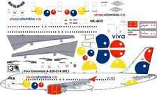 Viva Colombia Airbus A-320 decals for Revell 1/144 kit