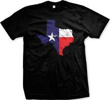 Texas Map Outline Lone Star State Pride Tejas Texan Tejano Austin Mens T-shirt