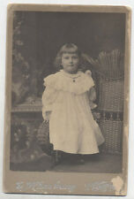 CABINET CARD SWEET LOOKING YOUNG GIRL BUT A HOLY TERROR FOR SURE.LOCK HAVEN, PA.