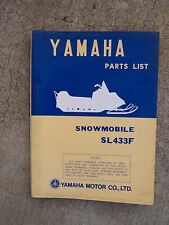 **1973 Yamaha SL433F Snowmobile Illustrated Parts List MORE SNO-MO IN STORE  V