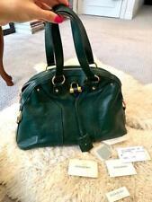 Authentic Ysl Yves Saint Laurent зеленая кожа Муза наплечная сумка