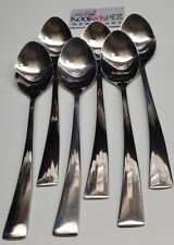 SET OF 6, BRAND NEW VINERS 18/10 STAINLESS STEEL TABLESPOONS SPOON HI QUALITY