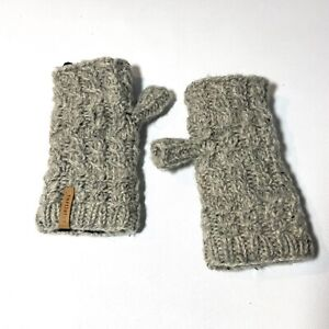 Turtle fur 100% wool knitted half gloves