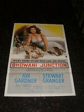 """BHOWANI JUNCTION Original 1956 Movie Poster, 27.5"""" x 41"""", C7 Fine/Very Fine"""