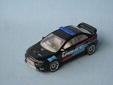 Matchbox Mitsubishi Lancer Evolution X Evo Police Black Toy Model Car 1/64th